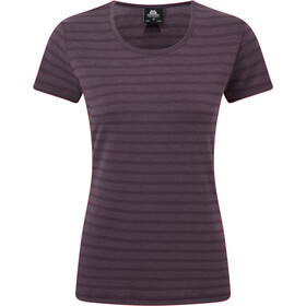Mountain Equipment Stripe Tee Dame blackberry stripe